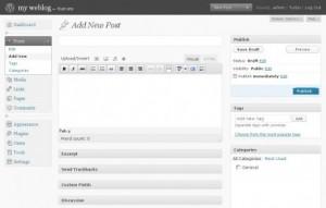 WordPress, Panel de Administración 2008 - 2009