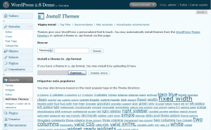 Instalador de themes de WordPress 2.8