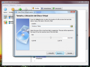 VirtualBox - Creando el disco duro - 1