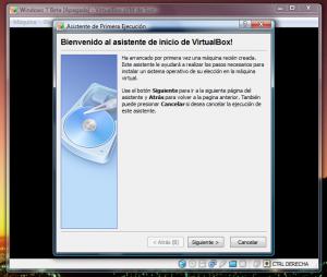 VirtualBox - Primer inicio