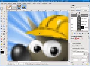 La nueva interfaz de GIMP