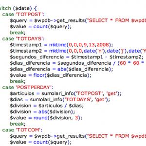 Parte del código de la función