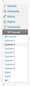 Menú de WP Carousel 0.4