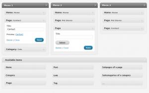 Gestor de menús de WordPress 3.0