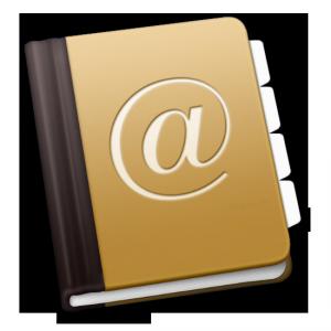 Icono de la agenda de Mac OS X