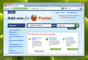 Firefox 4 con Aero Basic