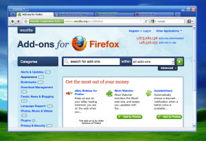 Firefox 4 en Windows XP con el tema Royale