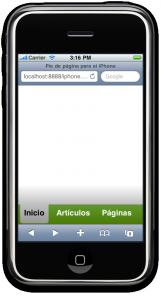 Pie de página para el iPhone