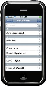 Lista de contactos en iOS