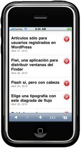 Lista de artículos imitando la lista de contactos de iOS