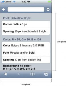 Estilo de una lista con esquinas curvas en iOS
