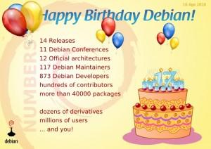 17º aniversario de Debian