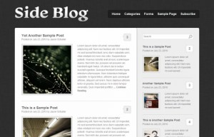 Theme Side Blog para WordPress
