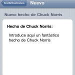 Enviando un nuevo hecho en Chuck Facts
