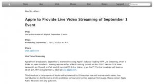 Apple transmitirá en directo el evento