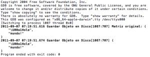 Resultado del código de ejemplo