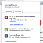 Non-trusted HTTPS on policia.es