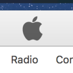 iTunes main tab bar